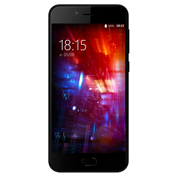 Смартфон BQ 5203 Vision Black MediaTek MT6737T (1.5)/16 Gb/3 Gb/5,2 (1280x720)/DualSim/3G/4G/BT/Android 7.0 смартфон htc u play eea brilliant black mediatek helio p10 2 0 32 gb 3 gb 5 2 1920x1080 dualsim 3g 4g bt android 6 0