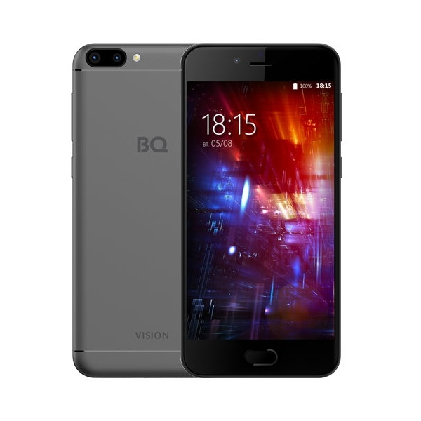 Смартфон BQ 5203 Vision Grey MediaTek MT6737T (1.5)/16 Gb/3 Gb/5,2 (1280x720)/DualSim/3G/4G/BT/Android 7.0 смартфон meizu m5s 16gb 3gb silver white mediatek mt6753 1 3 16 gb 3 gb 5 2 1280x720 dualsim 3g 4g bt android 6 0