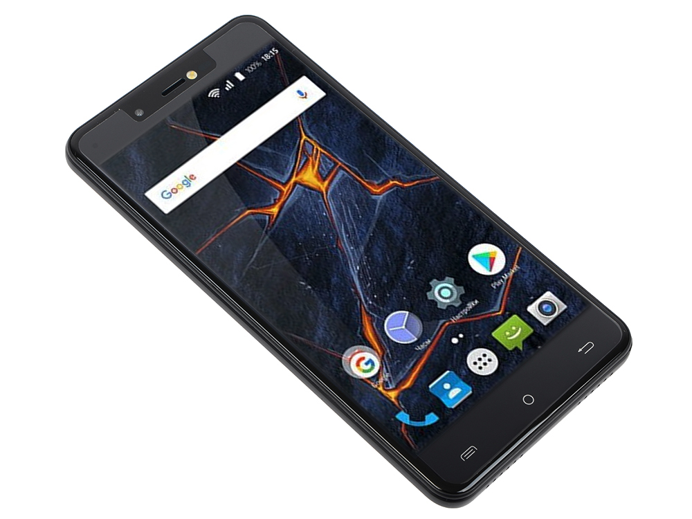 Смартфон BQ-5507L Iron Max (Black) MediaTek MT6373 (1.3)/2GB/16GB/5.5 1280х720 IPS/2Sim/4G LTE/8Mp, 2Mp Cam/Android 7.0 bluboo edge 2gb 16gb smartphone black