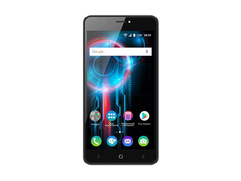 Смартфон BQ-5525 Practic (Dark Gray) MediaTek MT6580A (1.3)/1GB/8GB/5.0 1280х720 IPS/2Sim/13Mp, 5Mp Cam/Android 7.0 смартфон bq mobile bq 5525 practic black