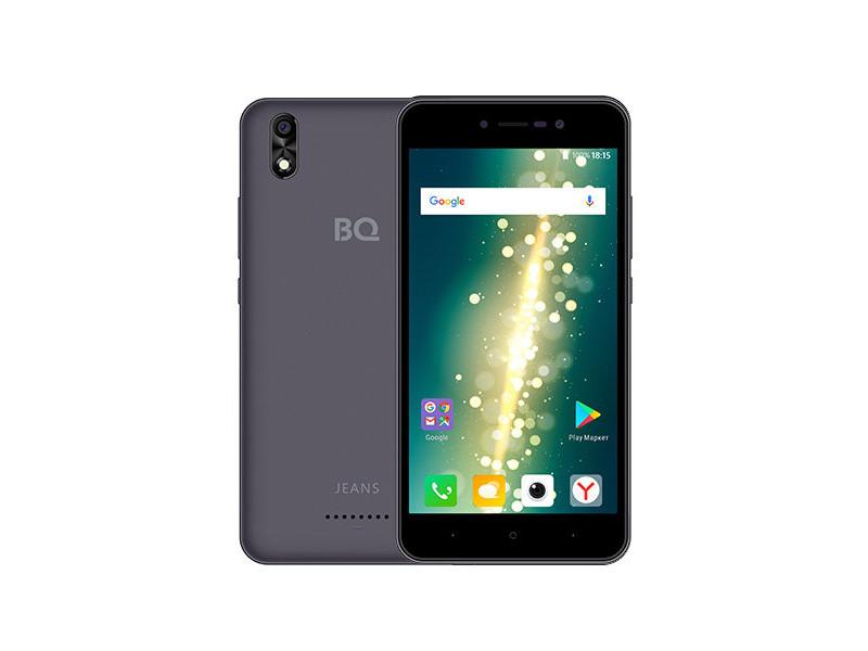 Смартфон BQ-5591 Jeans (Gray) MediaTek MT6580 (1.3)/1GB/8GB/5.0 1280х720 IPS/2Sim/5Mp, 5Mp Cam/Android 7.0 bq 2427 boom l gray
