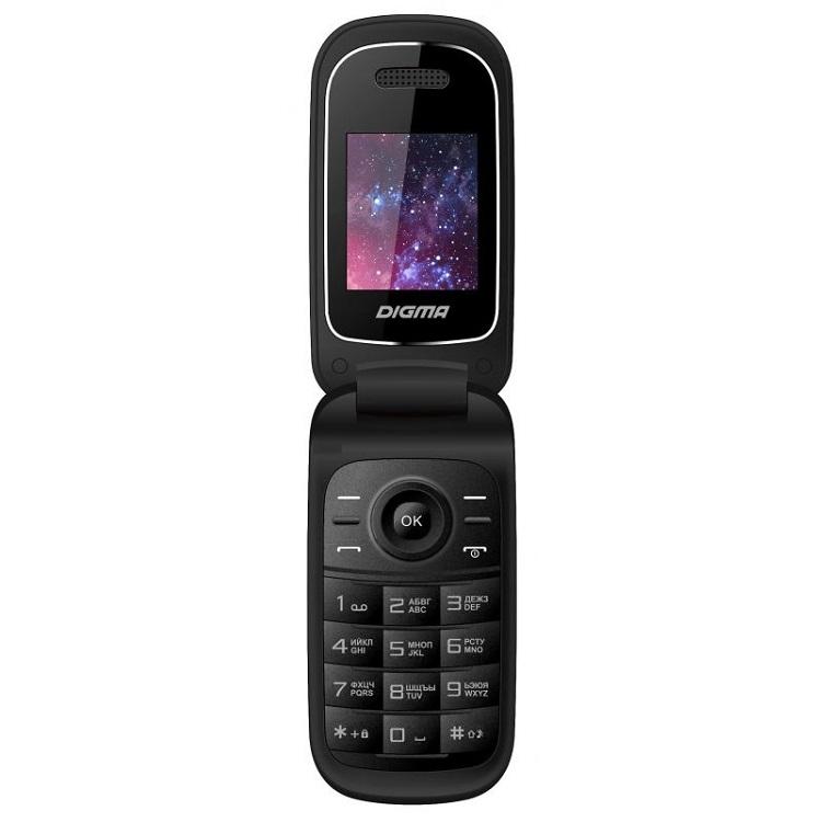 Мобильный телефон Digma Linx A205 2G черный 2Sim 1.77 TFT 128x160 0.08Mpix BT сотовый телефон digma linx a177 2g