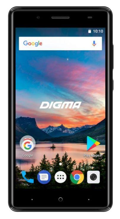 Смартфон Digma HIT Q500 3G HT5035PG Black Spreadtrum SC7731C (1.3)/8 Gb/1 Gb/5'' (854x480)/DualSim/3G/BT/Android 7.0 планшет digma plane 1601 3g ps1060mg black