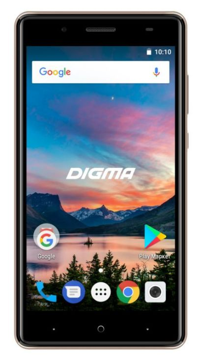 Смартфон Digma HIT Q500 3G HT5035PG Gold Spreadtrum SC7731C (1.3)/8 Gb/1 Gb/5'' (854x480)/DualSim/3G/BT/Android 7.0 смартфон 5 digma vox s505