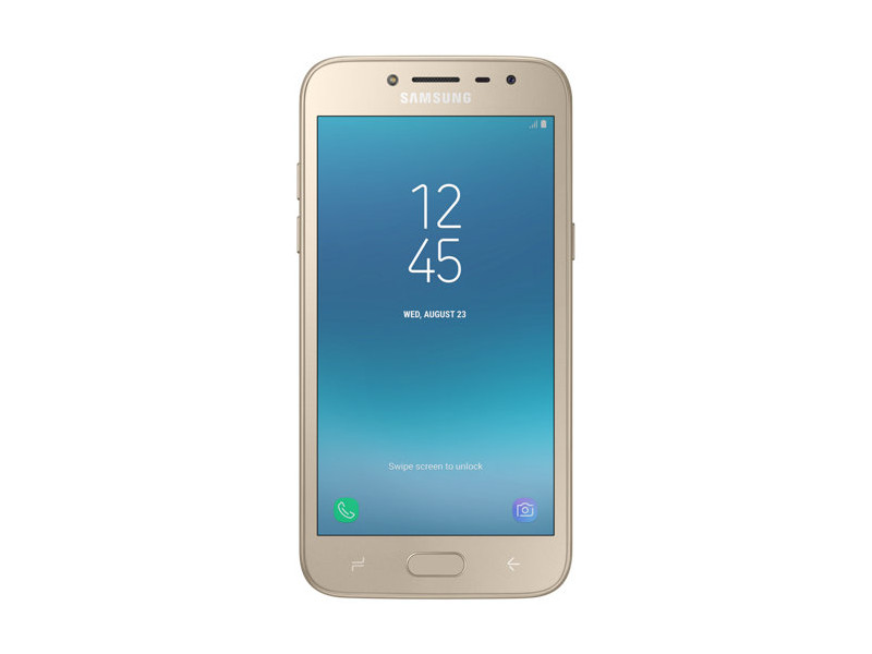 Смартфон Samsung Galaxy J2 (2018) SM-J250F/D (2.2)/1.5GB/16GB/5.0 960x540/8Mp, 5Mp/4G LTE/2Sim/Android 7 (Gold) (SM-J250FZDDSER) смартфон samsung galaxy a8 2018 black sm a530f exynos 7885 2 2 4gb 32gb 5 6 2220x1080 16mp 16mp 8mp 4g lte 2sim android 7 1 sm a530fzkdser