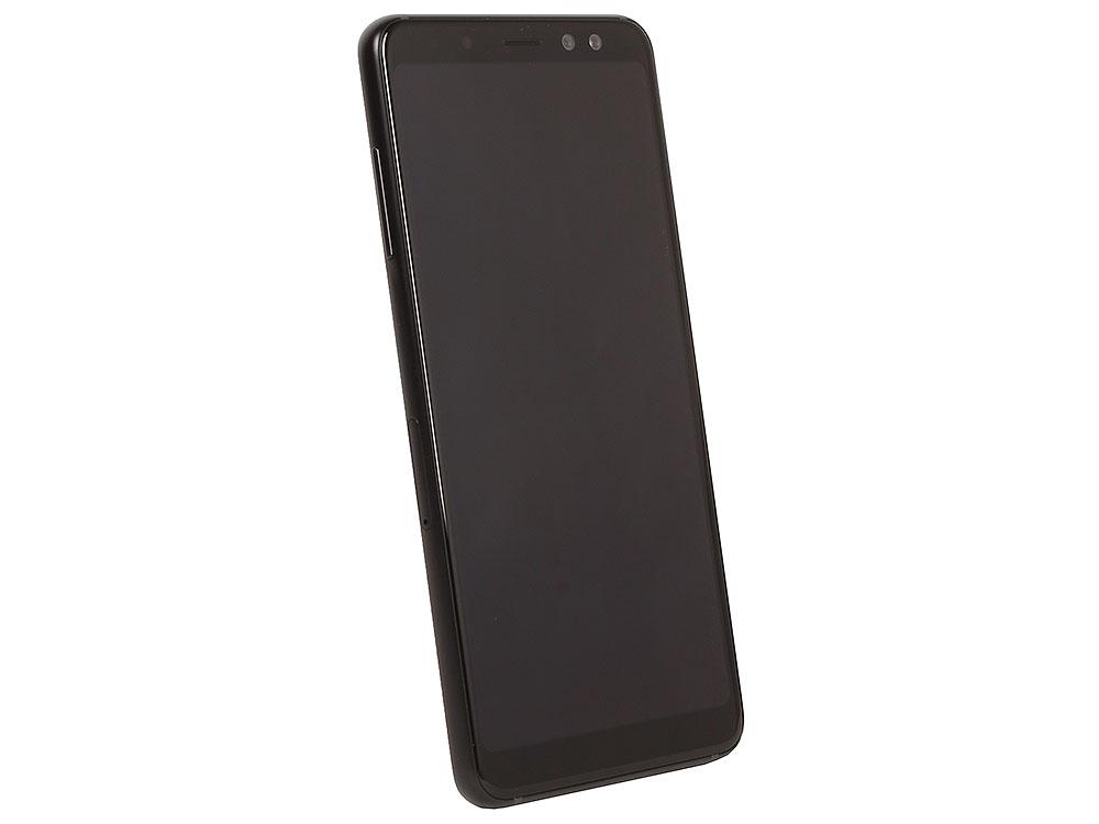 Смартфон Samsung Galaxy A8 (2018) SM-A530F Exynos 7885 (2.2)/4GB/32GB/5.6 2220x1080/16Mp, 16Mp+8Mp/4G LTE/2Sim/Android 7.1 (Black) (SM-A530FZKDSER) смартфон samsung galaxy a7 2018 black samsung exynos 7885 octa 2 2 4gb 64gb 6 2220x1080 super amoled 2sim 24mp 8mp 5mp 24mp nfc fpr android 8 0 sm a750fzkuser