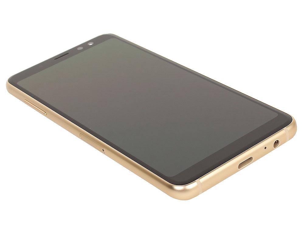 Смартфон Samsung Galaxy A8 (2018) Black SM-A530F Exynos 7885 (2.2)/4GB/32GB/5.6 2220x1080/16Mp, 16Mp+8Mp/4G LTE/2Sim/Android 7.1 (SM-A530FZKDSER) смартфон bq 5700l space x black qualcomm snapdragon 430 1 4 3gb 32gb 5 7 1440х720 ips 2sim 4g lte fpr 16mp 20 8mp cam android 7 1