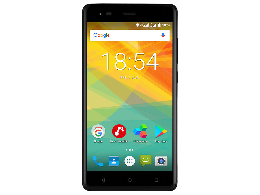 Смартфон Prestigio Grace R5 LTE (PSP5552DUOBLACK) Quad-Core (1.25)/1GB/16GB/5.5 720x1280 IPS/4G LTE/Dual SIM/13MP, 2MP/Android 7.0 (Black) чехол защитный skinbox prestigio grace r5 lte