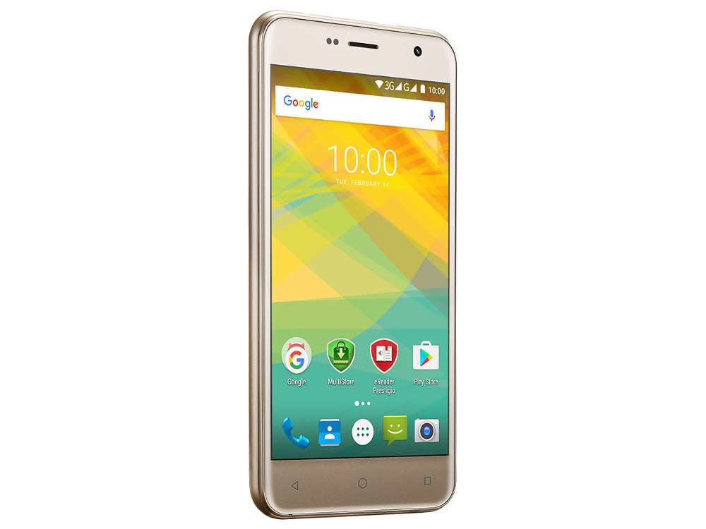 Смартфон Prestigio Muze B7 (PSP7511DUOGOLD) Quad-Core (1.3)/2GB/16GB/5.0 720x1280 IPS/3G/Dual SIM/13MP, 2MP/Android 6.0 (Gold) prestigio muze b7 5 01280 720ips display dual sim android 6 0 1 3ghz quad core 2gb ddr 16gb flash 2 0mp front 13 0mp rear camera with flash light 2300mah battery black[psp7511duoblack]