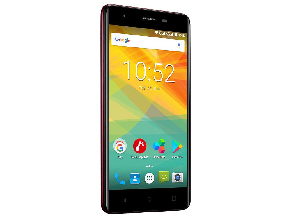 Смартфон Prestigio Muze H3 (PSP3552DUOWINE) Quad-Core (1.3)/1GB/8GB/5.0 720x1280 IPS/3G/Dual SIM/8MP, 2MP/Android 7.0 (Wine) планшет prestigio muze 3708 3g pmt3708