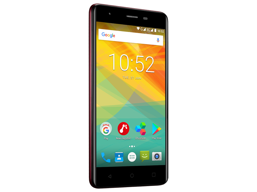 Смартфон Prestigio Muze H3 (PSP3552DUOWINE) Quad-Core (1.3)/1GB/8GB/5.0 720x1280 IPS/3G/Dual SIM/8MP, 2MP/Android 7.0 (Wine) планшет prestigio multipad grace 3118 pmt31183gccis black mediatek mt8321 1 2 ghz 1024mb 8gb wi fi bluetooth cam 8 0 1280x800 android