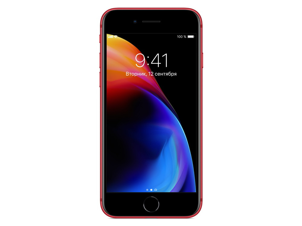 Смартфон Apple iPhone 8 64Gb (PRODUCT)RED (MRRM2RU/A) Apple A11/2 Gb/64 Gb/4.7 1344x750/12+12Mp, 7Mp/3G/4G LTE/BT/iOS 11 apple iphone 6 silver 64 gb mg4h2ru a