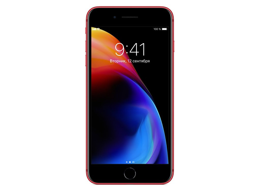 Смартфон Apple iPhone 8 Plus 64Gb (PRODUCT)RED (MRT92RU/A) Apple A11/3 Gb/64 Gb/5.5 1920x1080/12+12Mp, 7Mp/3G/4G LTE/BT/iOS 11 смартфон bqs 5050 strike selfie grey mediatek mt6580 1 3 8 gb 1 gb 5 1280x720 dualsim 3g bt android 6 0