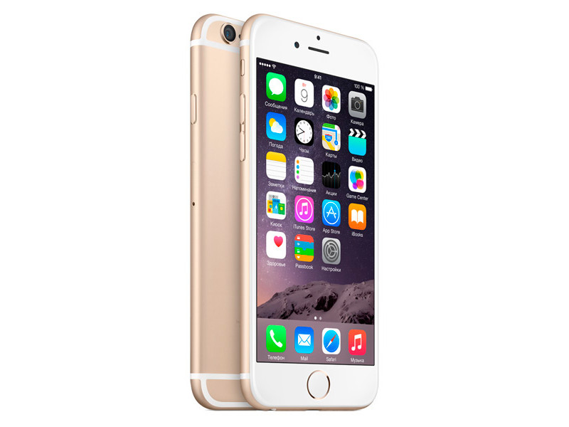 Смартфон Apple IPHONE 6 MQ3E2RU/A 32GB GOLD смартфон apple iphone 6