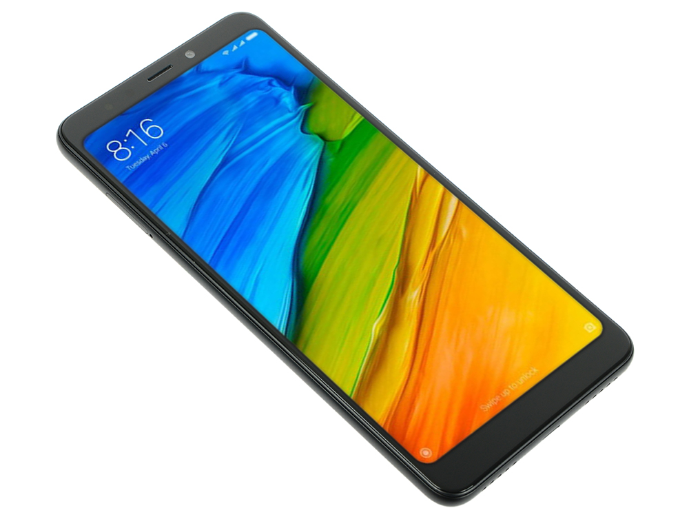 Смартфон Xiaomi Redmi 5 Black Qualcomm Snapdragon 450/2GB/16GB/5.7'' 1440x720/2 Sim/3G/LTE/BT/12Mp+5Mp/Wi-Fi/GPS/Glonas/Android 7.1 bluboo edge 2gb 16gb smartphone black