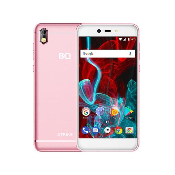 Смартфон BQ 5211 Strike 85957682 Rose Gold MediaTek MTK6580A (1.3)/8 Gb/1 Gb/5.2 (1280x720)/DualSim/3G/BT/Android 7.0 смартфон bq bq 5510 strike power max 4g золотистый mediatek mt6737 1гб 8 гб 5 5 1280x720 13mpix dualsim 3g 4g bt android 7 0