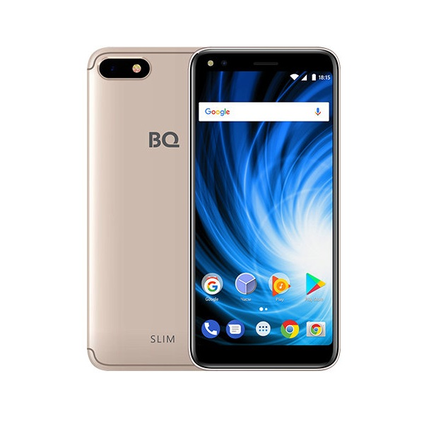 Смартфон BQ 5701L Slim 85956730 Gold MediaTek MT6737H (1.3)/16 Gb/2 Gb/5.7 (1440x720)/DualSim/3G/4G/BT/Android 7.0 смартфон digma hit q500 3g ht5035pg gold spreadtrum sc7731c 1 3 8 gb 1 gb 5 854x480 dualsim 3g bt android 7 0