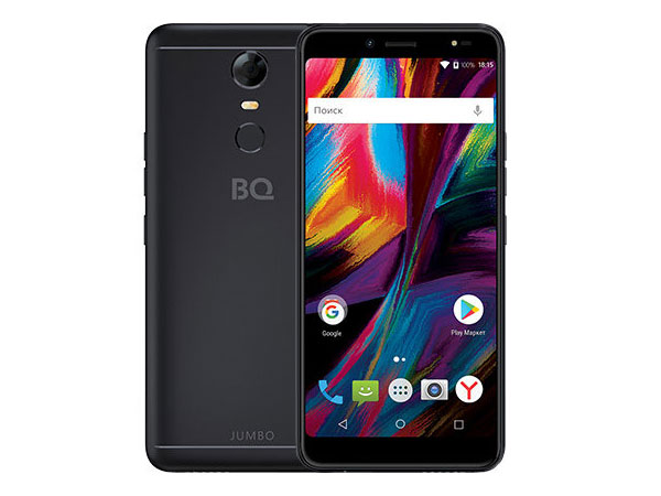 Смартфон BQ 6001L Jumbo Black MediaTek MT6739WA/2GB/16GB/6.0 1440x720/2 Sim/3G/LTE/BT/13Mp+8Mp/Wi-Fi/GPS/Android 7.1