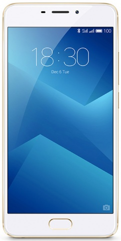 "Смартфон Meizu M5 Note 16Gb (Gold) MediaTek Helio P10 (2.0)/16 Gb/3 Gb/5.5"" (1920x1080)/DualSim/3G/4G/BT/Android 6.0"