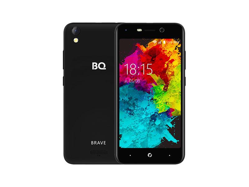 Смартфон BQ-5008L Brave (Black) MediaTek MT6737V/W (1.3) / 2GB / 16GB / 5.0 1280х720 IPS / 2Sim / 13Mp, 8 Mp Cam / Android 7.0