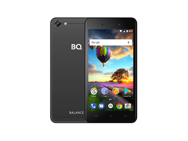 Смартфон BQ-5206L Balance (Black) MediaTek MT6737V/W (1.25) / 2GB / 16GB / 5.2 1280х720 IPS / 2Sim / 13Mp, 8 Mp Cam / Android 7.0