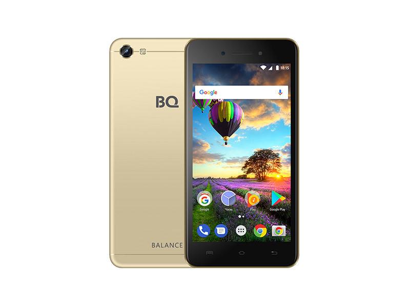Смартфон BQ-5206L Balance (Gold) MediaTek MT6737V/W (1.25) / 2GB / 16GB / 5.2 1280х720 IPS / 2Sim / 13Mp, 8 Mp Cam / Android 7.0