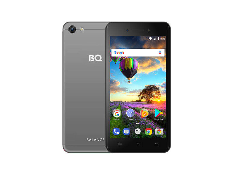 Смартфон BQ-5206L Balance (Grey) MediaTek MT6737V/W (1.25) / 2GB / 16GB / 5.2 1280х720 IPS / 2Sim / 13Mp, 8 Mp Cam / Android 7.0 ubtel q1 mtk6592 octa core android 4 2 wcdma bar phone w 5 0 ips gps otg hml 16gb rom white