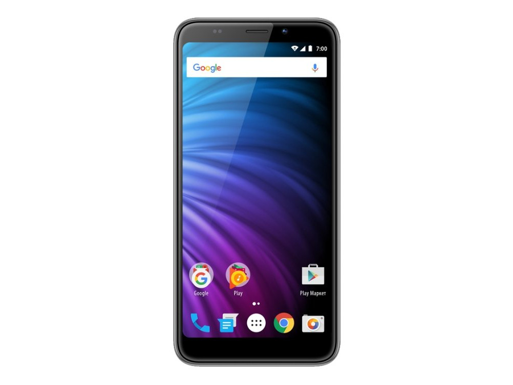 Смартфон Vertex Impress Nero (VRX-VNR-BLCK) MediaTek MT6737 (1.3) / 2GB / 16GB / 5.5 1280x640 IPS / 2Sim / 4G LTE / BT / Android 7.0 (Black) micromax micromax canvas pace q415 lte black