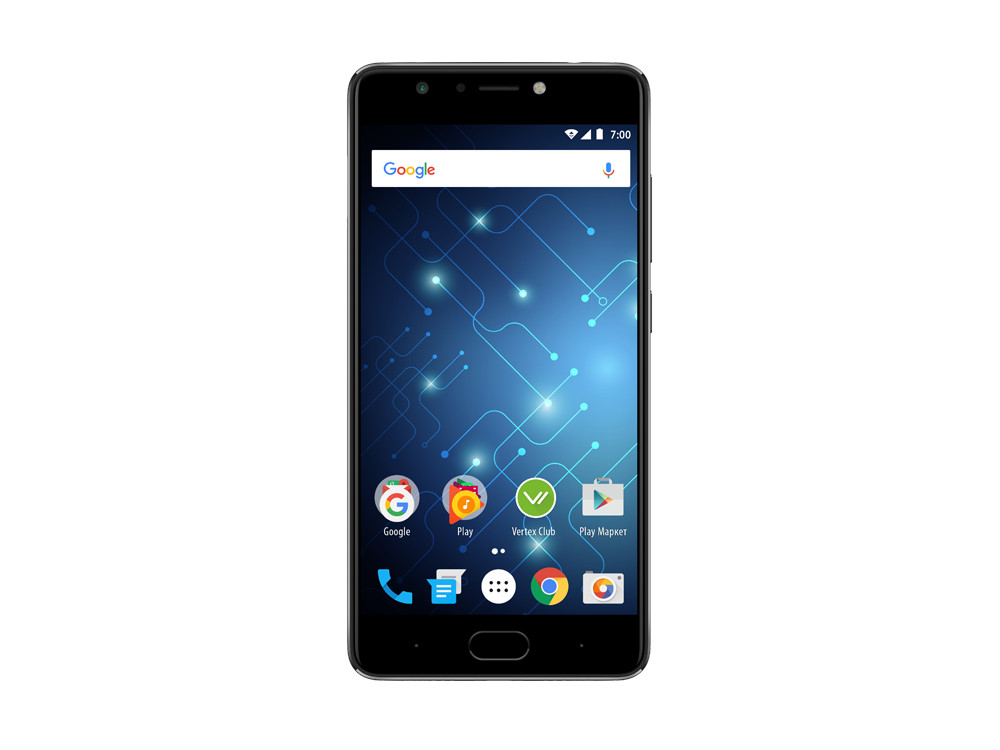 Смартфон Vertex Impress Play (VRX-VPL-BLK) MediaTek MT6753 (1.3) / 3GB / 32GB / 5.5 1920x1080 IPS / 2Sim / 4G LTE / BT / 16Mp, 16Mp / Android 7.0 (Black)