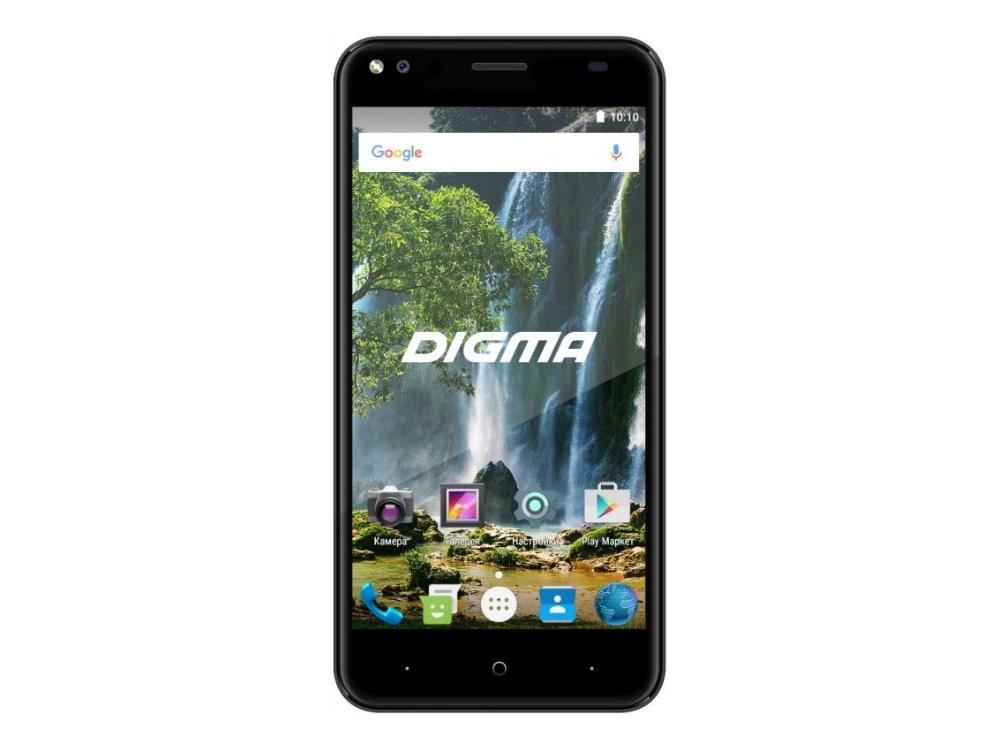 Смартфон Digma E502 4G VOX (VS5036PL) Quadcore (1.3) / 1GB / 16GB / 5'' 1280x720 IPS / 8Mp+2M, 5Mp / 2 Sim / 4G LTE / Android 7.0 (Gray) смартфон digma vox s503 16гб черный dual sim 4g lte 3g