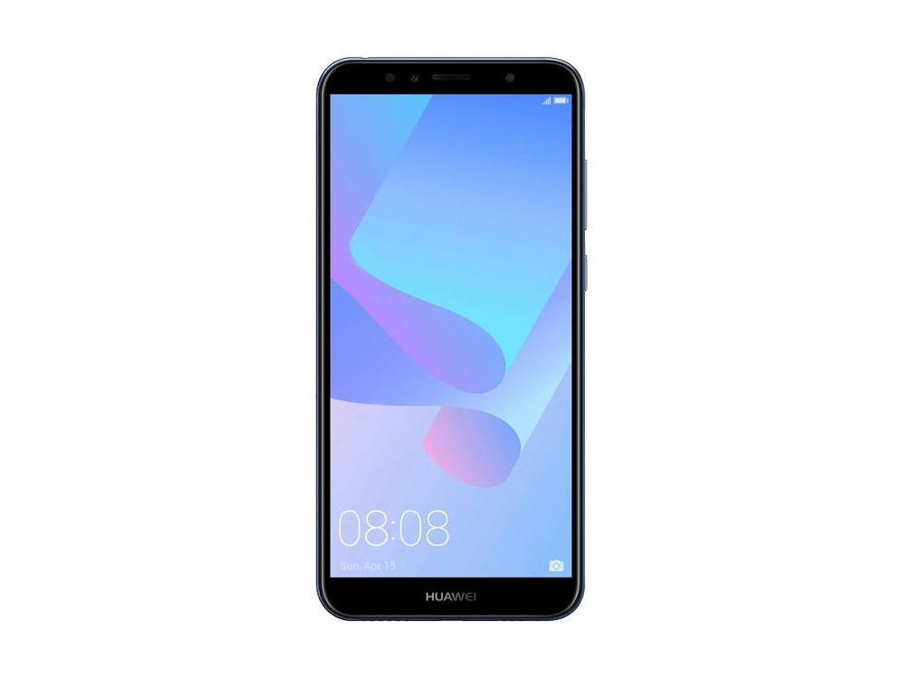 Смартфон Huawei Y6 2018 Blue (ATU-L31) Snapdragon 425 (1.4) / 2GB / 16GB / 5.7 1440x720 / 2Sim / 3G / 4G LTE / 13Mp, 5Mp / Android 8.0 смартфон zte blade v9 4 64 blue qualcomm snapdragon 450 1 8 4gb 64gb 5 7 2160x1080 ips 16mp 5mp 13mp 2sim 3g 4g android 8 1
