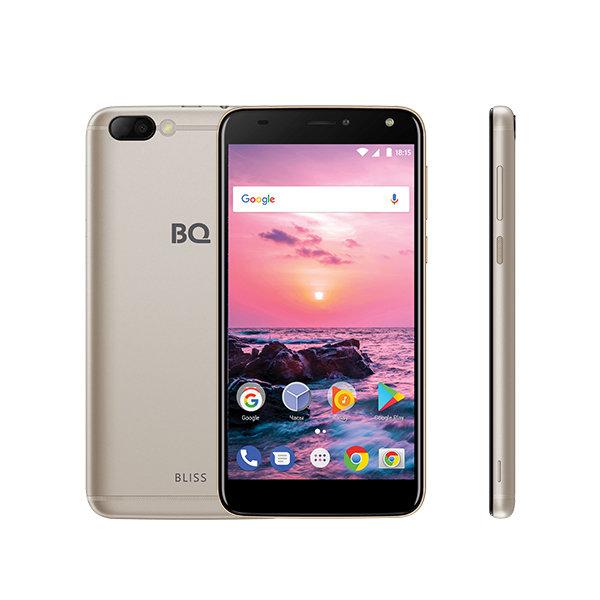 Смартфон BQ-5511L Bliss Gold MediaTek MT6737(1.3GHz)/1GB/8GB/5.5 1280x720/2 Sim/3G/LTE/8Mp+5Mp/BT/Wi-Fi/GPS/Android 7.0 ginzzu gt x770 v2 lte 8gb white
