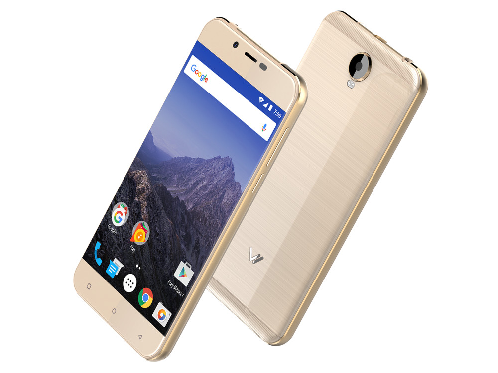 Смартфон Vertex Impress Eagle 4G (Gold) MediaTek MT6737 (1.25) / 2GB / 16GB / 5 1280x720 IPS / 2 Sim / 3G / 4G LTE / GPS / 8Mp, 5Mp / Android 7.0 (VEGL4G-GLD) смартфон impress lion dual cam 3g gold mediatek mt6580 1 3 1gb 8gb 5 1280x720 ips 2 sim 3g gps 8mp 5mp 5mp android 7 0 vln3gdc gld