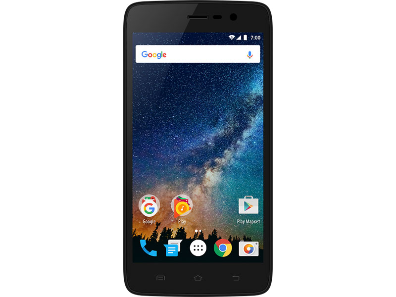 Смартфон Vertex Impress Saturn 4G Black Spreadtrum SC9832/1GB/8GB/5 1280x720/5Mpix+2Mpix/2 Sim/3G/LTE/BT/Wi-Fi/GPS/Android 7.0 смартфон vertex impress play черный 5 5 32 гб lte wi fi gps 3g vrx vpl blk