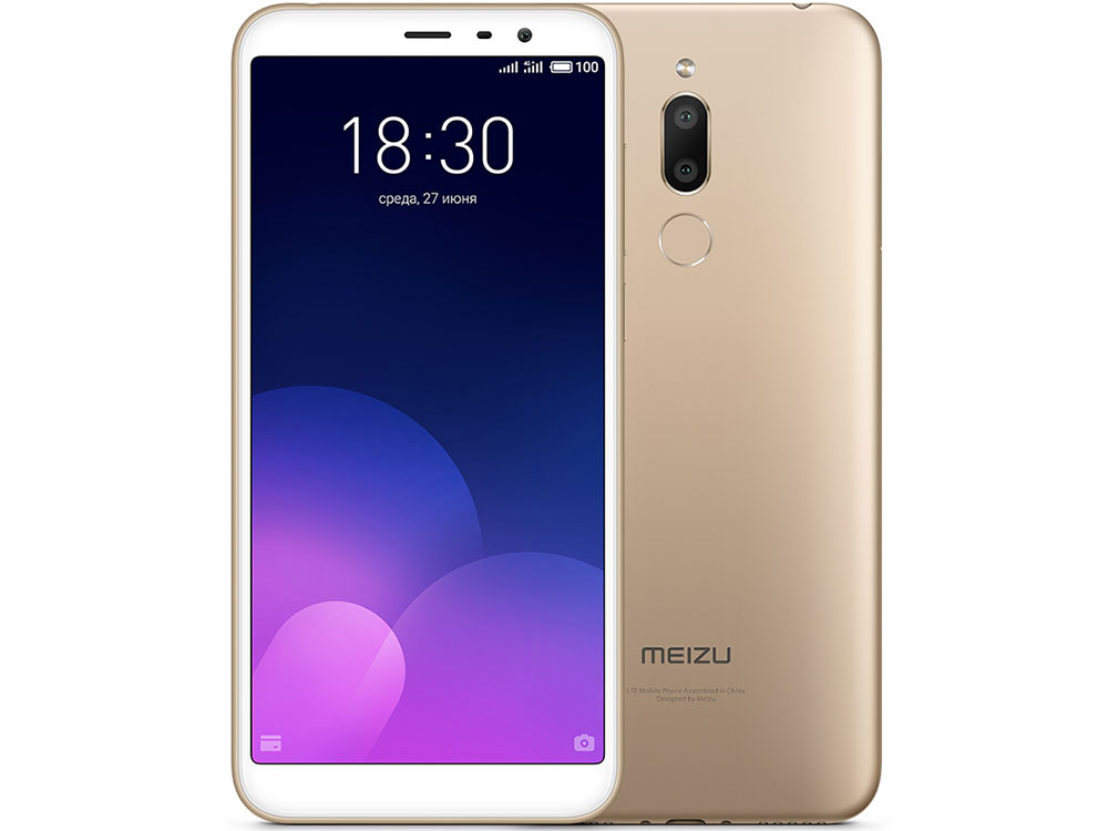 Смартфон Meizu M6T Gold, M811H, 5.7'' 1440x720, 1.0GHz+1.5GHz, 8 Core, 2/16GB, up to 128GB, 2/13Mp + 8Mp, 2 Sim, 3G, LTE, BT, Wi-Fi, GPS, Glonass, 330 смартфон meizu m6 note gold m721h 5 5 1920x1080 2 0ghz 8 core 3 16gb up to 128gb 12mp 5mp 2 sim 2g 3g lte bt wi fi gps glonass 4000m