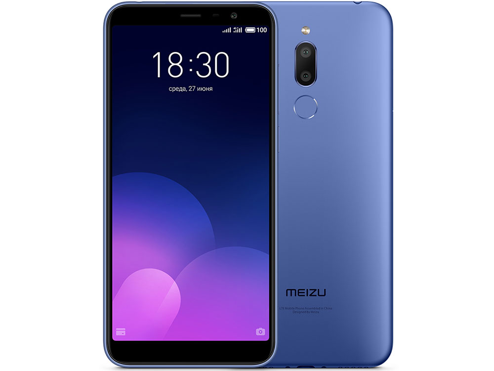 Смартфон Meizu M6T Blue, M811H, 5.7'' 1440x720, 1.0GHz+1.5GHz, 8 Core, 2/16GB, up to 128GB, 2/13Mp + 8Mp, 2 Sim, 3G, LTE, BT, Wi-Fi, GPS, Glonass, 330 смартфон htc u11 eea amazing silver 6 2880x1440 2 45ghz 8 core 6gb ram 128gb up to 2tb flash 12mpix 8mpix 2 sim 2g 3g lte bt