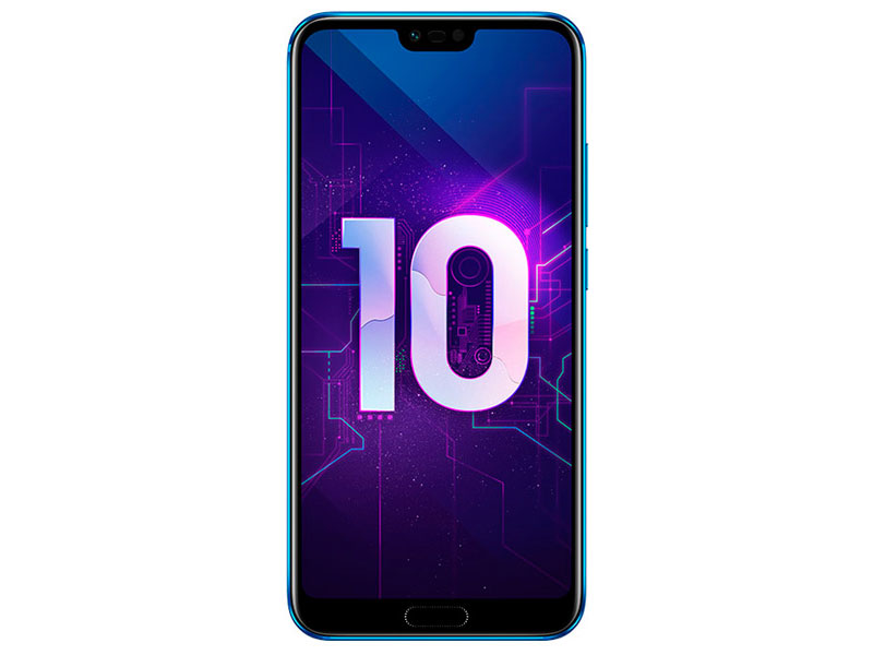 Смартфон HONOR 10 128Gb Blue Kirin 970(2.36GHz)/4GB/128GB/5.84 2280x1080/2 Sim/3G/LTE/BT/Wi-Fi/16Mp+24Mp/24Mp/GPS/Glonas/Android 8.0 leagoo lead4 dual core android 4 2 wcdma bar phone w 4 0 wvga 4gb rom wi fi gps ota black