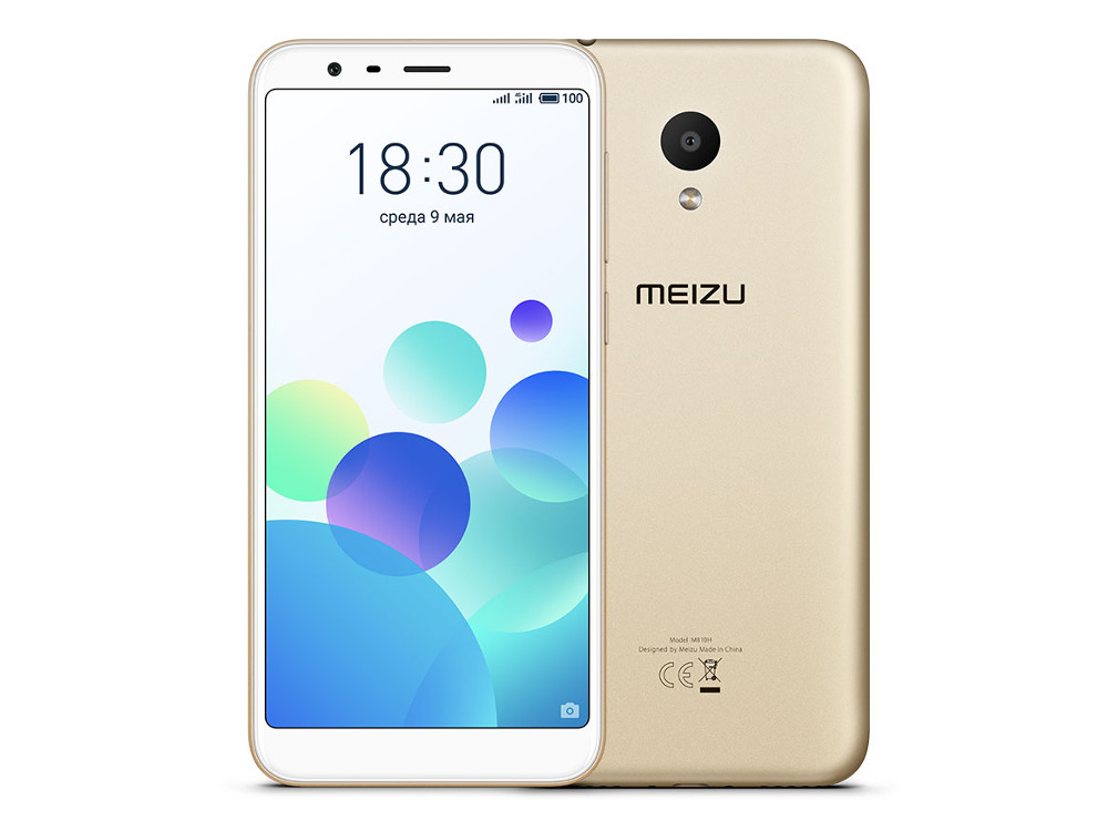 Смартфон Meizu M8c Gold (M810H-16-GD) Snapdragon 425 (1.4) / 2GB / 16GB / 5.45'' 1440x720 / 2Sim / 4G LTE / GPS / Glonass / 13Mp, 8Mp / Android 7.0 oukitel k7000 5 0 inch 4g quad core android smart phone