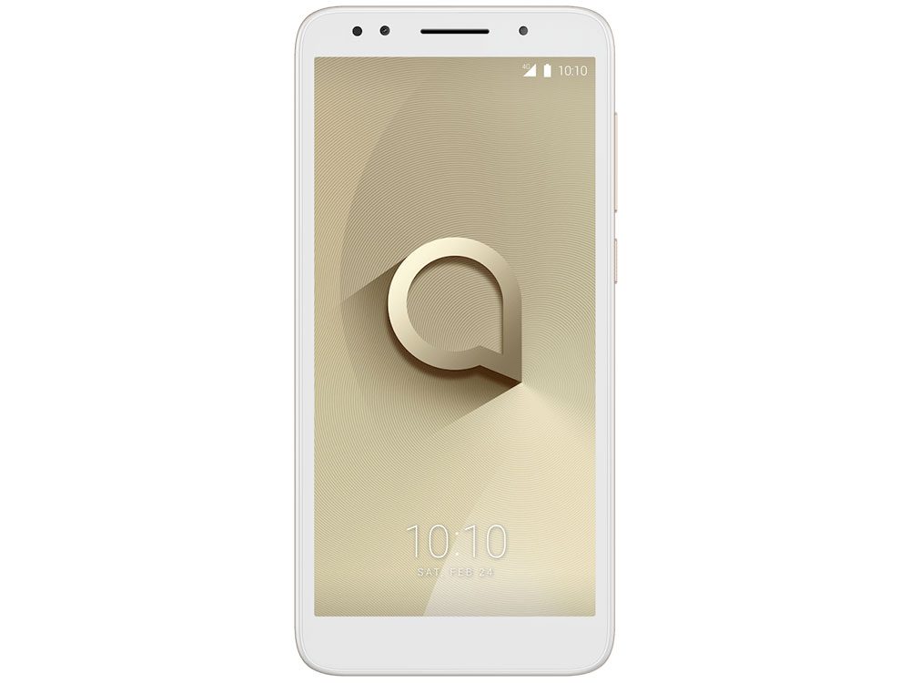 Смартфон Alcatel 1X (5059D) White/Gold MT6739 2Gb/16Gb/5.3 (960x480)/13+5Mp/4G/Android 8.0 смартфон lg k8 k350e 4g 16gb black gold