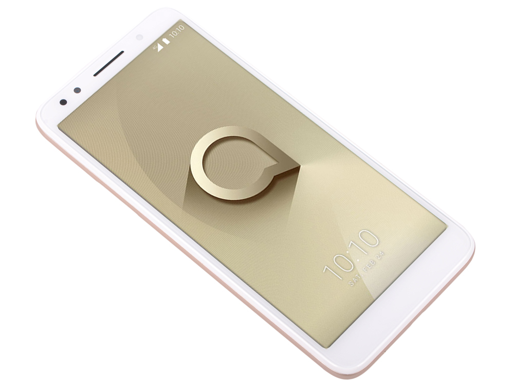 Смартфон Alcatel 1X (5059D) White/Gold MT6739 2Gb/16Gb/5.3 (960x480)/13+5Mp/4G/Android 8.0 смартфон lg k10 k430ds 4g 16gb white
