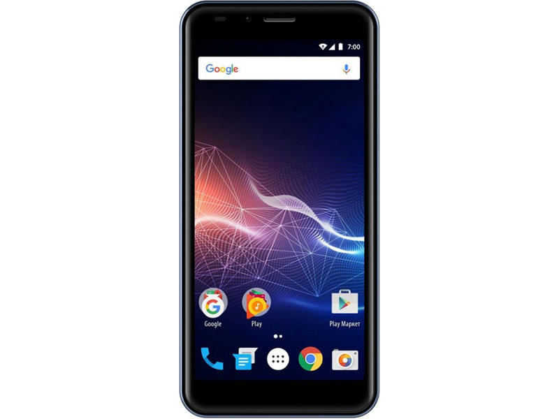 Смартфон Vertex Impress Click (3G) Blue MediaTek MT6580 (1.3) / 1GB / 8GB / 5.0 960x480 IPS / 2Sim / 4G LTE / BT / 5+0.3Mp, 2Mp / Android 7.0 смартфон fly fs512 nimbus 10 8гб черный dual sim 4g lte 3g