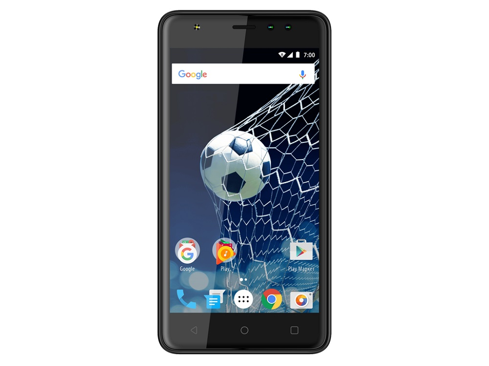 Смартфон Vertex Impress Game Black MediaTek MTK6580M (1.2)/8 Gb/1 Gb/5 (854x480)/DualSim/3G/BT/Android 7.0 смартфон neffos y5l tp801a31ru sunny yellow qualcomm snapdragon 210 1 1 8 gb 1 gb 4 5 854x480 dualsim 3g bt android 6 0