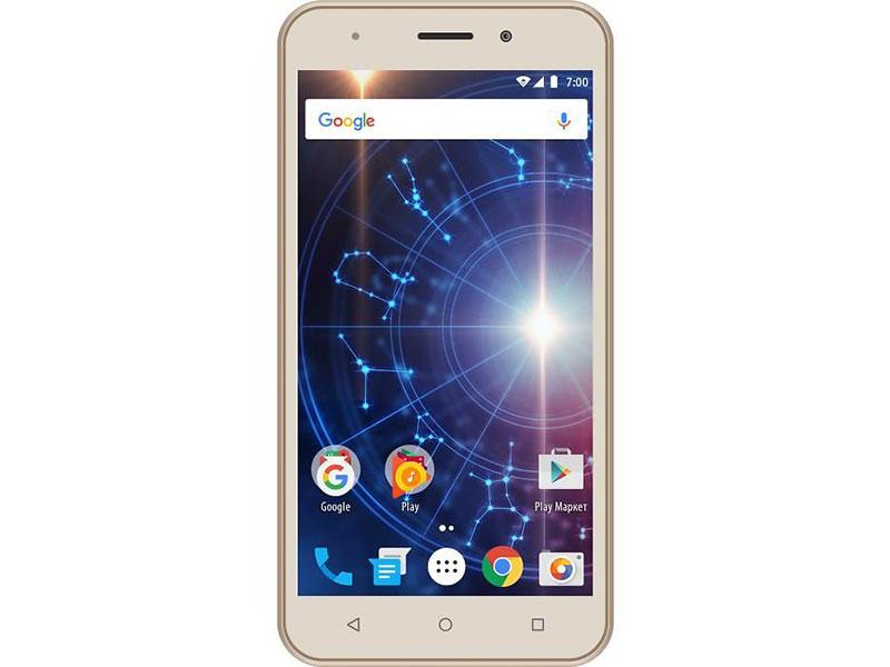 Смартфон Vertex Impress Luck (3G) Gold MediaTek MT6580 (1.3) / 1GB / 8GB / 5.0 854x480 IPS / 2Sim / BT / 5Mp, 2Mp / Android 7.0