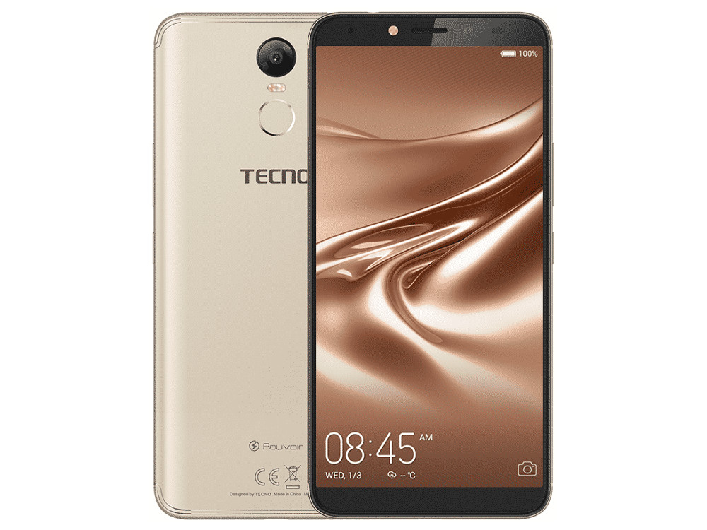 Смартфон Tecno CA7 (LA7-CHGL) MediaTek 6737 (1.3) / 2GB / 16GB / 6 1440x720 IPS / 3G / 4G LTE / GPS / 13Mp, 8Mp / Android 8.1 (Champagne Gold) смартфон lg k10 2017 gold mediatek mt6750 2gb 16gb 5 3 1280x720 3g 4g 13mp 5mp android 7 0