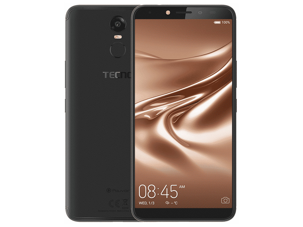 Смартфон Tecno CA7 (LA7-MIBK) MediaTek 6737 (1.3) / 2GB / 16GB / 6 1440x720 IPS / 3G / 4G LTE / GPS / 13Mp, 8Mp / Android 8.1 (Midnight Black) bluboo edge 2gb 16gb smartphone black