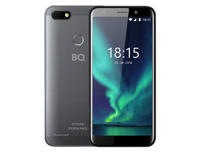 Смартфон BQ-5512L Strike Forward Grey MediaTek MT6739 (1.3)/16 Gb/2 Gb/5.45 (1440x720)/DualSim/3G/4G/BT/Android 8.1 смартфон bq 5058 strike power easy black mediatek mt6580m 1 3 8 gb 1 gb 5 854x480 dualsim 3g bt android 6 0