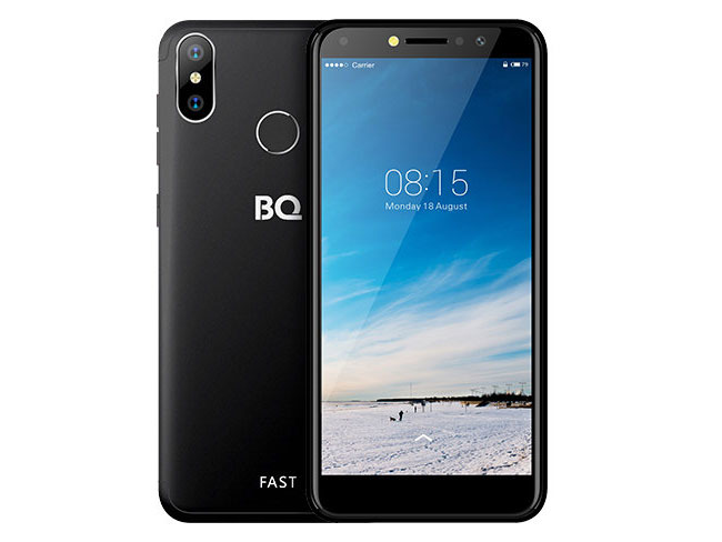 Смартфон BQ-5515L Fast Black MediaTek MT6739WA (1.3)/16 Gb/2 Gb/5.5 (960x480)/DualSim/3G/4G/BT/Android 8.1 смартфон bqs 5050 strike selfie grey mediatek mt6580 1 3 8 gb 1 gb 5 1280x720 dualsim 3g bt android 6 0