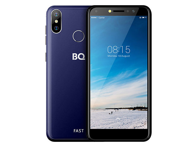 Смартфон BQ-5515L Fast Dark Blue MediaTek MT6739WA (1.3)/16 Gb/2 Gb/5.5 (960x480)/DualSim/3G/4G/BT/Android 8.1 смартфон bqs 5050 strike selfie grey mediatek mt6580 1 3 8 gb 1 gb 5 1280x720 dualsim 3g bt android 6 0