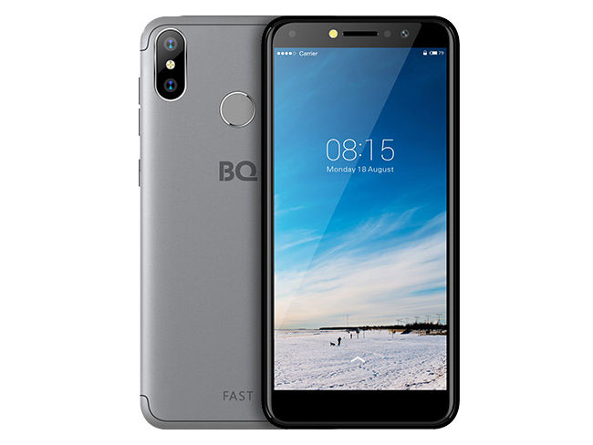 Смартфон BQ-5515L Fast Grey MediaTek MT6739WA (1.3)/16 Gb/2 Gb/5.5 (960x480)/DualSim/3G/4G/BT/Android 8.1 смартфон bqs 5050 strike selfie grey mediatek mt6580 1 3 8 gb 1 gb 5 1280x720 dualsim 3g bt android 6 0