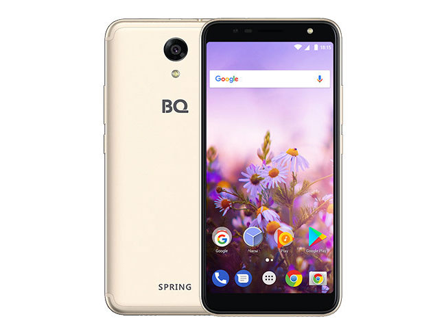 Смартфон BQ-5702 Spring Gold MediaTek MT6580M (1.3)/8 Gb/1 Gb/5.7 (960x480)/DualSim/3G/4G/BT/Android 7.0 смартфон bqs 5050 strike selfie grey mediatek mt6580 1 3 8 gb 1 gb 5 1280x720 dualsim 3g bt android 6 0